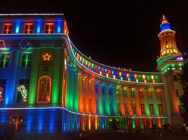 Downtown Denver: Christmas is a time when even those most ardent suburbanites come downtown. The opulent light display decorating the City and County ...
