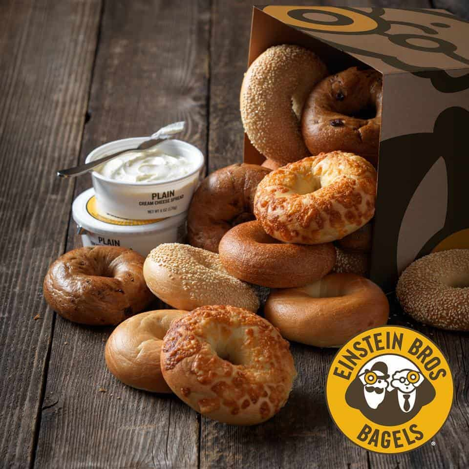 einstein 13 bagels for 7 or baker s dozen box for 12 every monday