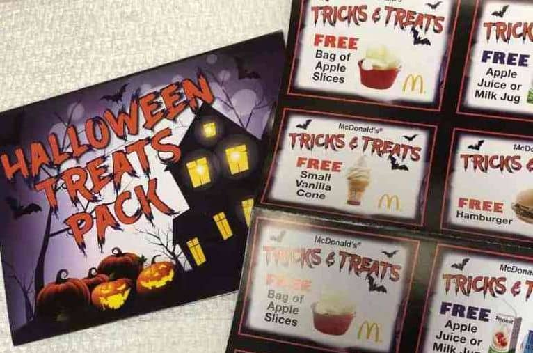 Mcdonalds Christmas Treat Packs 2020 McDonald's: $1 Halloween Treats Pack   12 Coupons For Free Food